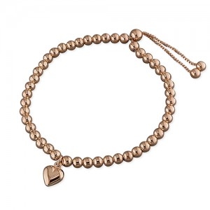 Rose gold plated ball bracelet