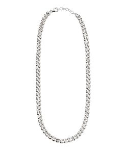 Double Strand Oval Bead Necklace