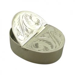 Double Sided Silver Pill Box