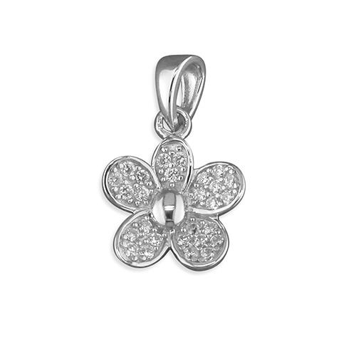 cubic zirconia daisy pendant