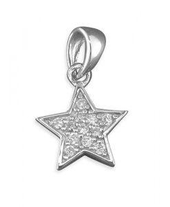 Cubic Zirconia Star Pendant