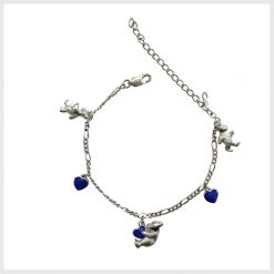 Teddy Bear Blue Enamel Bracelet