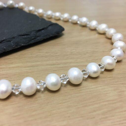 Pearl Crystal Necklace CU Pearl Crystal Necklace CU