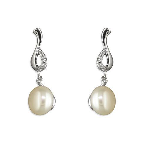 Pearl Swirl Earrings