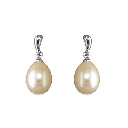 Silver & Freshwater Pearl Drop Earrings