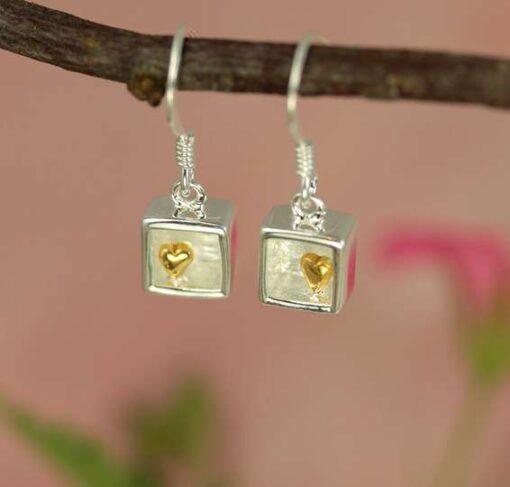 Heart of Gold Drop Earrings Heart of Gold Drop Earrings
