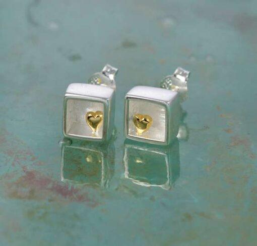 Heart of Gold Stud Earrings Heart of Gold Stud Earrings