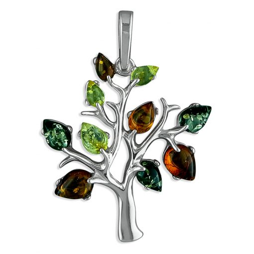 h2236m Mixed Amber Tree Pendant h2236m Mixed Amber Tree Pendant