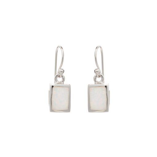 SOE21WHITE Rectangle Earrings SOE21WHITE Rectangle Earrings