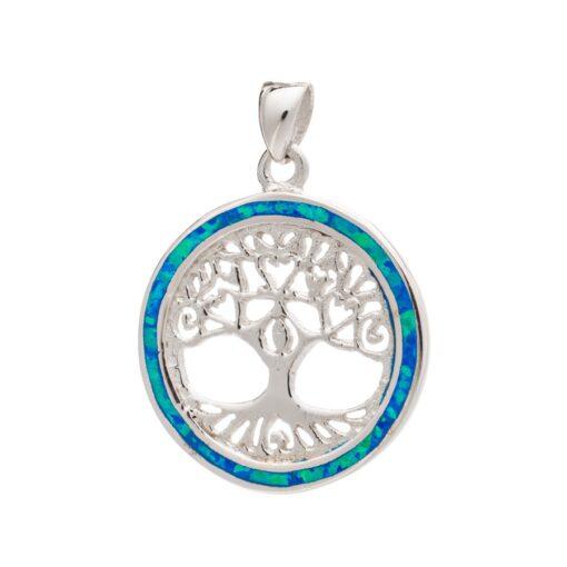 SOP48BLUE Tree of Life Pendant SOP48BLUE Tree of Life Pendant