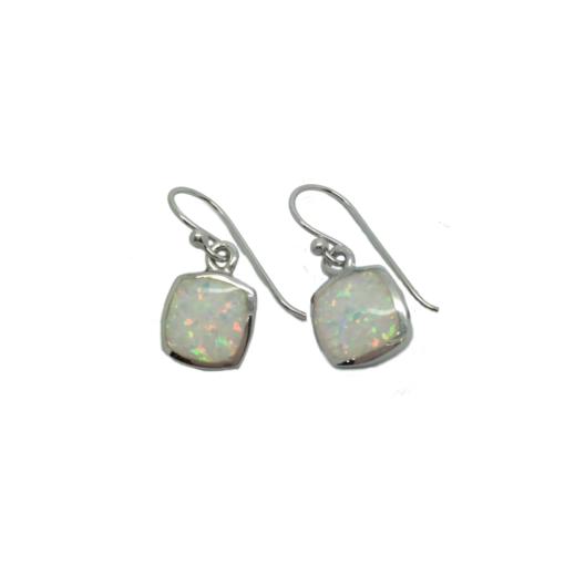 white opalique earrings white opalique earrings