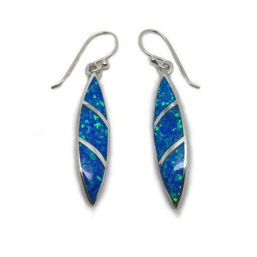 Opalique Marquise Stripe Earrings Blue Opalique Marquise Stripe Earrings Blue