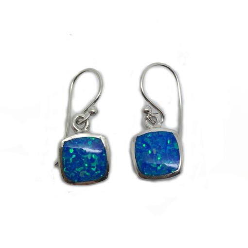 opalique earrings blue opalique earrings blue
