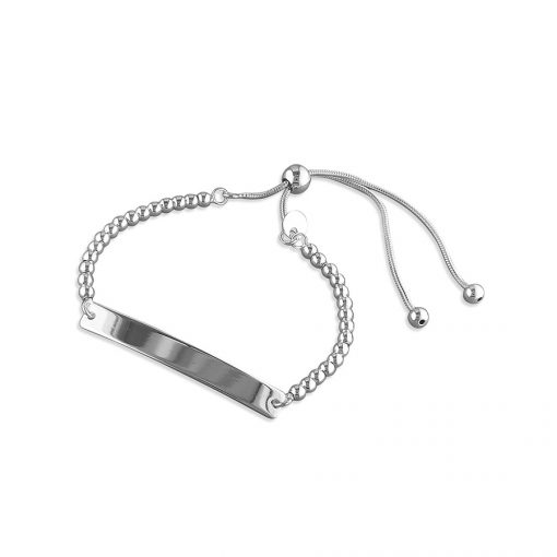 Silver ID Bracelet Adjustable Silver ID Bracelet Adjustable