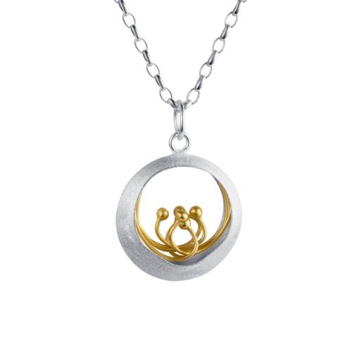 Sterling Silver Gold Plated Pendant P065SG Sterling Silver Gold Plated Pendant P065SG