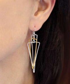 Triangular Mobile Earrings Silver GP1 Triangular Mobile Earrings Silver GP1