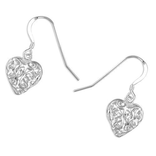 R8286 lattice heart earrings R8286 lattice heart earrings