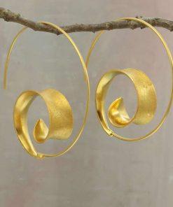 Curl Earrings Gold Curl Earrings Gold