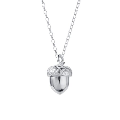 Silver Acorn Locket with Gold Plated Heart P103SG Silver Acorn Locket with Gold Plated Heart P103SG