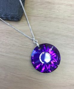 Purple Sunburst Pendant - Large