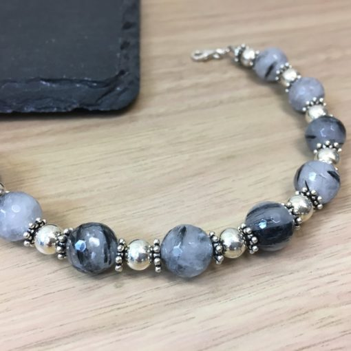 DP135B Rutilated Quartz Bracelet CU DP135B Rutilated Quartz Bracelet CU