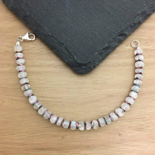 Moonstone and Hematite Bracelet Moonstone and Hematite Bracelet