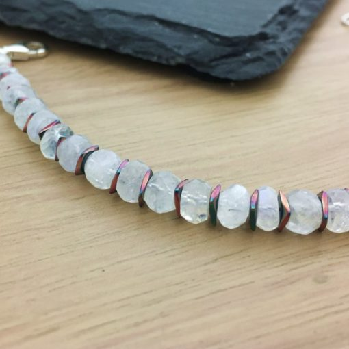 Moonstone and Hematite Bracelet CU Moonstone and Hematite Bracelet CU