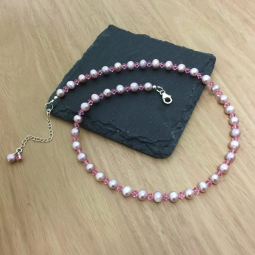 Pink Pearl Necklace Pink Pearl Necklace