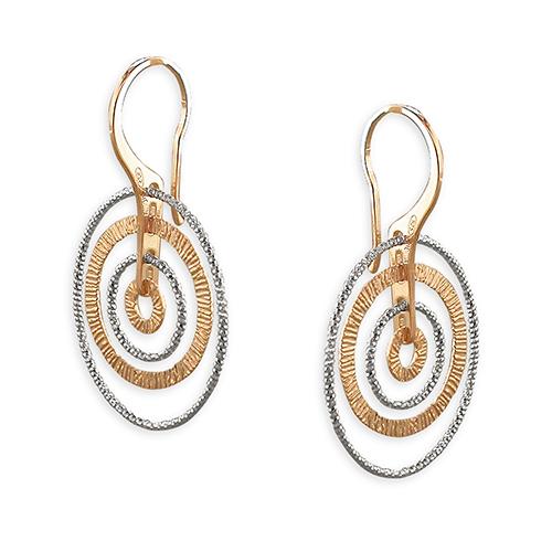 Textured rings earrings Textured rings earrings