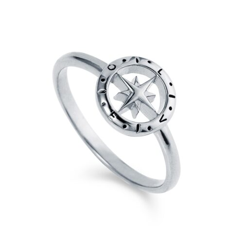 Loves Compass Silver Ring R090 W Loves Compass Silver Ring R090 W