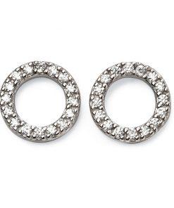 Cubic Zirconia Circle Earrings