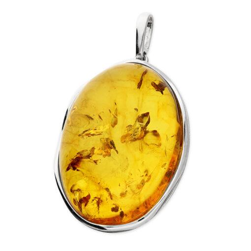 Oval cognac amber pendant Oval cognac amber pendant