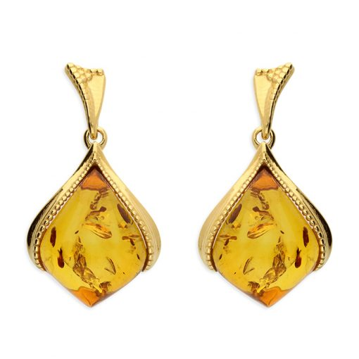 Yellow GP Amber earrings Yellow GP Amber earrings