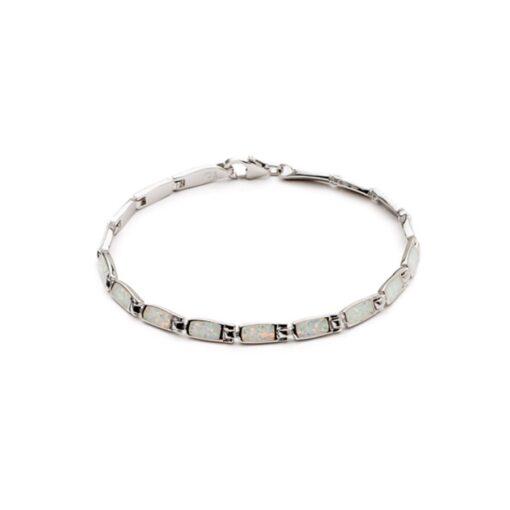 sobt14 white rectangle link bracelet sobt14 white rectangle link bracelet