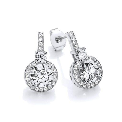 Diamondust Halo Stud Earrings Diamondust Halo Stud Earrings