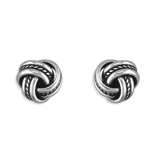 3 strand oxidised knot stud earrings 3 strand oxidised knot stud earrings