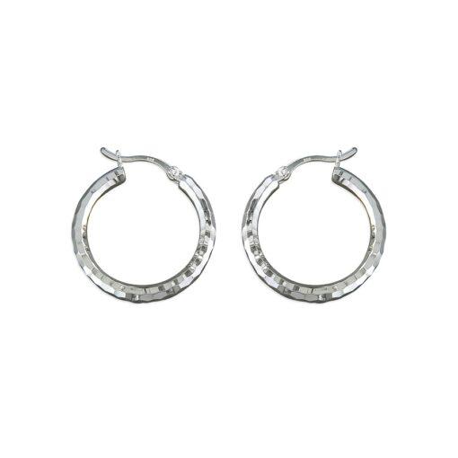 Large diamond cut hoop earrings Large diamond cut hoop earrings