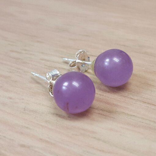 Lavender Jade Stud Earrings Lavender Jade Stud Earrings