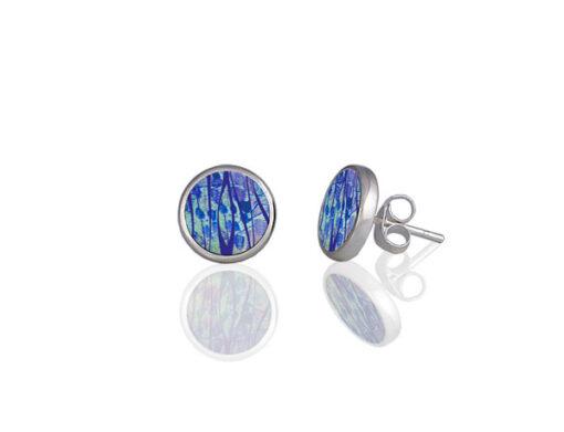 Honesty Blue Stud Earrings Honesty Blue Stud Earrings