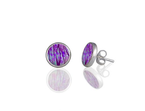 Honesty Purple Stud Earrings Honesty Purple Stud Earrings