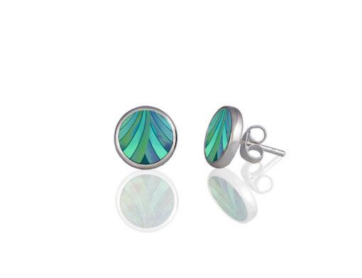 Ribbon Turquoise Stud Earrings Ribbon Turquoise Stud Earrings