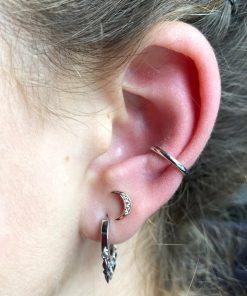 ear cuff single silver ear cuff single silver