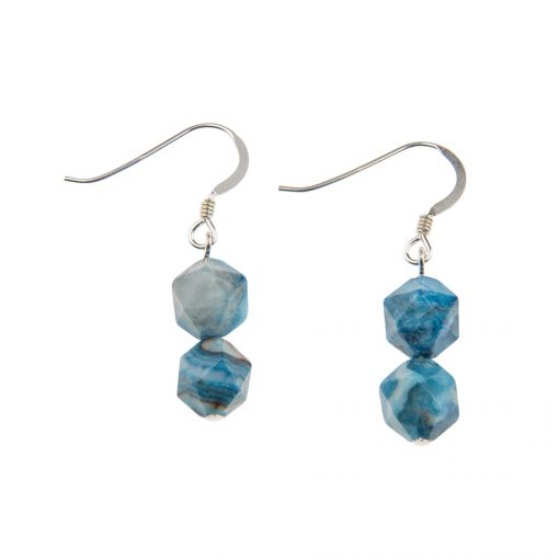 Azure Faceted agate Earrings Azure Faceted agate Earrings