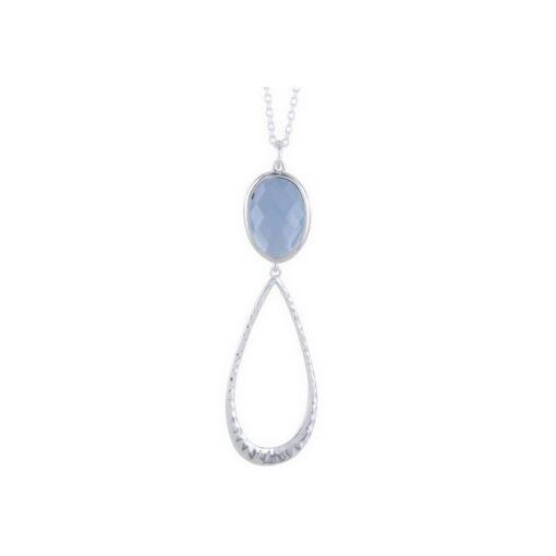 Aqua Chalcedony candy drop necklace1 Aqua Chalcedony candy drop necklace1