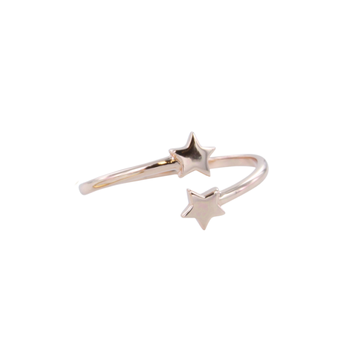 double star ring rose double star ring rose
