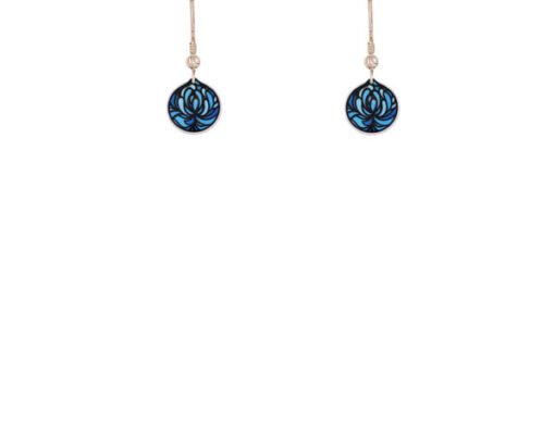 Blossom Blue Cup Earrings Blossom Blue Cup Earrings