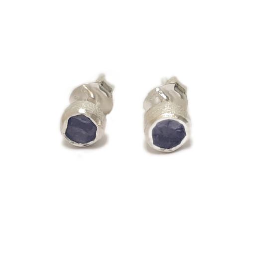 Rough Tanzanite Earrings Rough Tanzanite Earrings