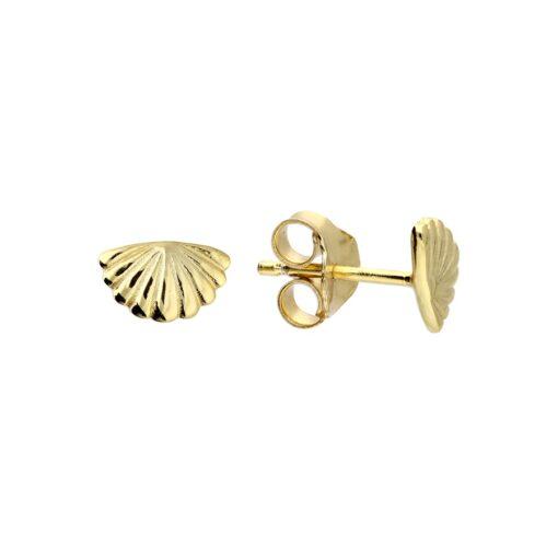 fan stud earrings Y fan stud earrings Y