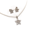 Star cZ necklace and earring set