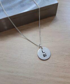 Personalised initial pendant